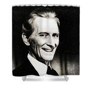 Peter Cushing, Vintage Actor Shower Curtain