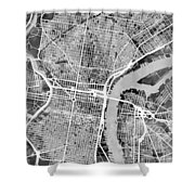 Philadelphia Pennsylvania Street Map Shower Curtain
