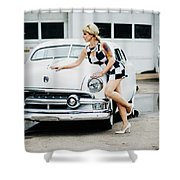 Pin Up #18 Shower Curtain