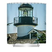 Point Pinos Lighthouse In Monterey California Shower Curtain