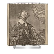 Portrait Of A Seated Man Shower Curtain