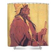 Portrait Of Billjones Joseph Henry Sharp Shower Curtain