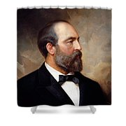 President James Garfield Painting Shower Curtain