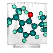 Propofol Diprivan Molecular Model Shower Curtain