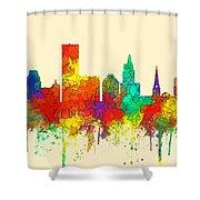 Providence Rhode Island Skyline Shower Curtain