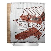 Rest  - Tile Shower Curtain