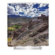 Ruins At Basgo Monastery Leh Ladakh Jammu And Kashmir India Shower Curtain
