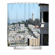 San Francisco Coit Tower Shower Curtain