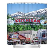 Scenery Around Alaskan Town Of Ketchikan Shower Curtain