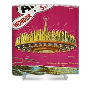 Science Fiction Magazine Shower Curtain