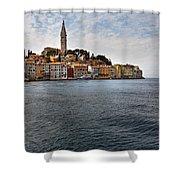 Seaside Town Shower Curtain