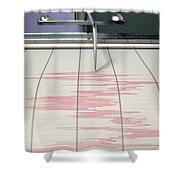 Seismograph Earthquake Activity Shower Curtain
