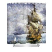 Ships Ahoy Shower Curtain