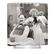 Silent Still: Barber Shop Shower Curtain