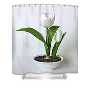 Silk Flower Shower Curtain
