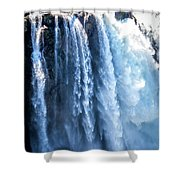 Snoqualmie Falls Washington State Nature In Daylight Shower Curtain