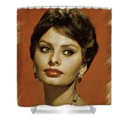 Sophia Loren, Vintage Actress Shower Curtain