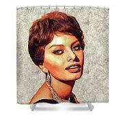 Sophia Loren, Vintage Movie Star Shower Curtain