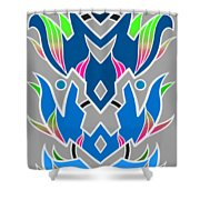 4 Space Ship Formation Shower Curtain