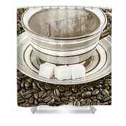 Steaming Coffee  Shower Curtain