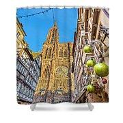 Strasbourg,christmas Market, Alsace France  Shower Curtain