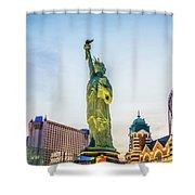 Street Scenes Around Las Vegas Nevada At Dusk Shower Curtain
