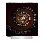 Thanksgiving Chapel Stained Glass Shower Curtain