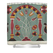 """Study For Proposed Portfolio """"decorated Chests Of Rural Pennsylvania"""" Shower Curtain"""