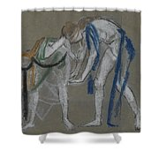 Study Of Two Dancers Shower Curtain