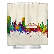 Sunderland England Skyline Shower Curtain