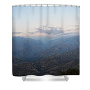 Sunrise Over Kings Canyon Shower Curtain