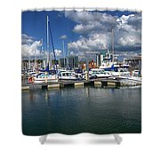 Sutton Harbour Plymouth Shower Curtain
