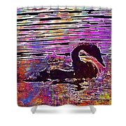 Swan Young Animal Bird Waters  Shower Curtain