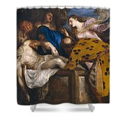 The Burial Of Christ Shower Curtain
