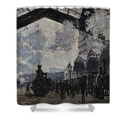 The Gare St Lazare Shower Curtain
