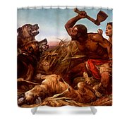 The Hunted Slaves Shower Curtain