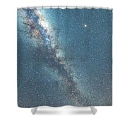 The Milky Way And Mars Shower Curtain
