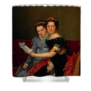 The Sisters Zenaide And Charlotte Bonaparte Shower Curtain