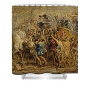 The Triumph Of Henry Iv Shower Curtain