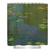 The Waterlily Pond Shower Curtain