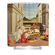 Three Miracles Of Saint Zenobius Shower Curtain
