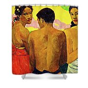 Three Tahitians Shower Curtain