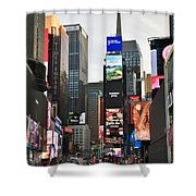 Times Square Shower Curtain