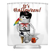 Trick Or Treat Time For Robo-x9 Shower Curtain