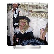 Trio Of Smokers Arizona Rangers Crystal Palace Saloon Tombstone Arizona 2004 Shower Curtain