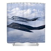Two F-117 Nighthawk Stealth Fighters Shower Curtain by HIGH-G Productions