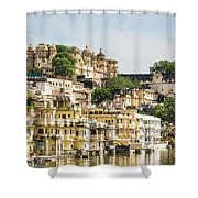 Udaipur City Palace In Rajasthan Shower Curtain