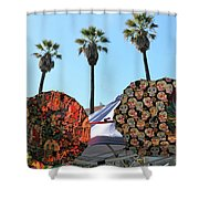4 Umbrellas Day Of The Dead  Shower Curtain