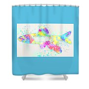 Underwater. Fish. Shower Curtain