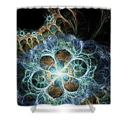 Novae I Shower Curtain by Sandra Hoefer